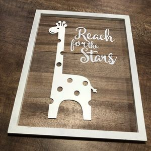 Wooden decor sign
